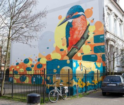 Graffiti Auftrag Eisvogel