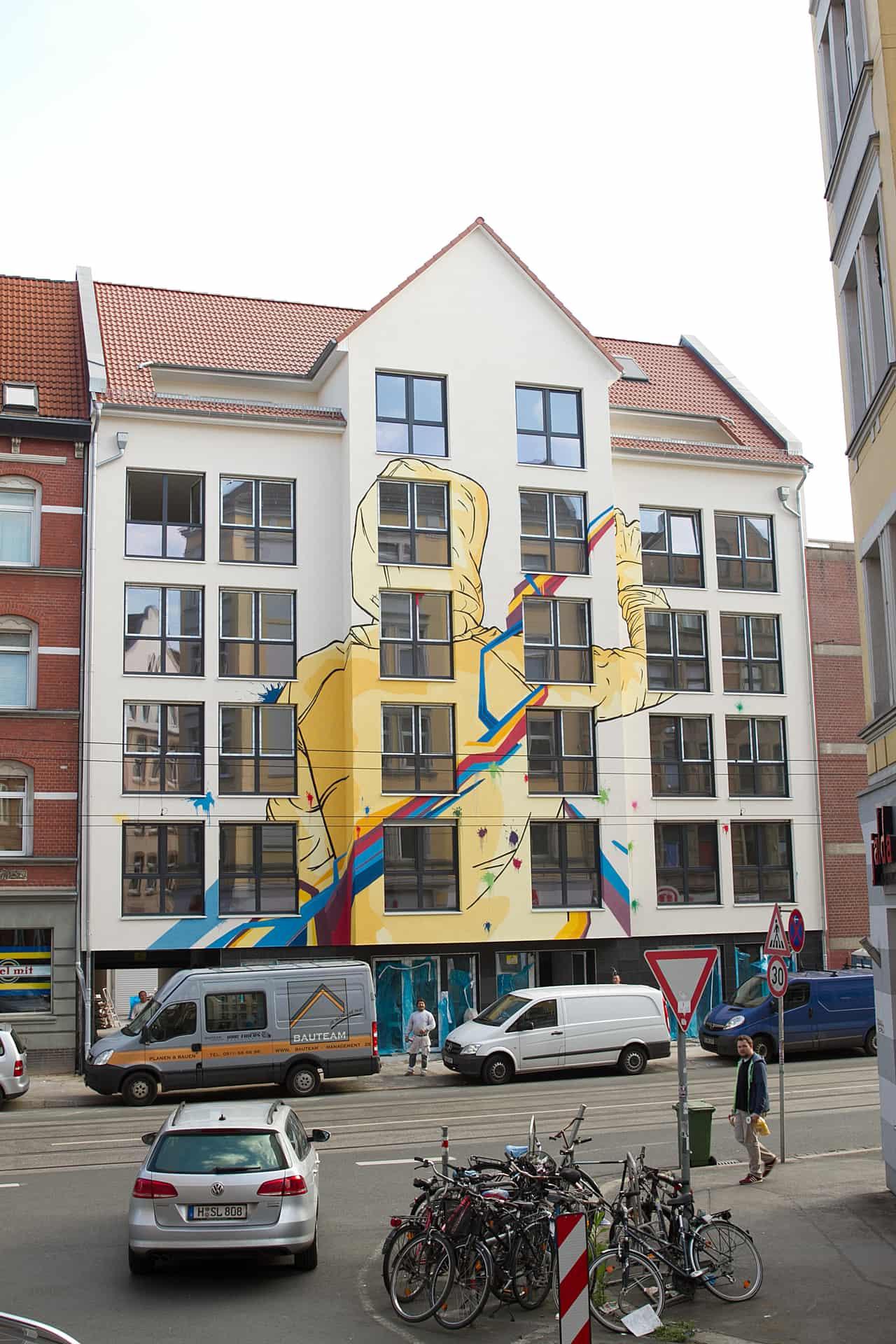 Fassade Graffiti Jascha Mueller