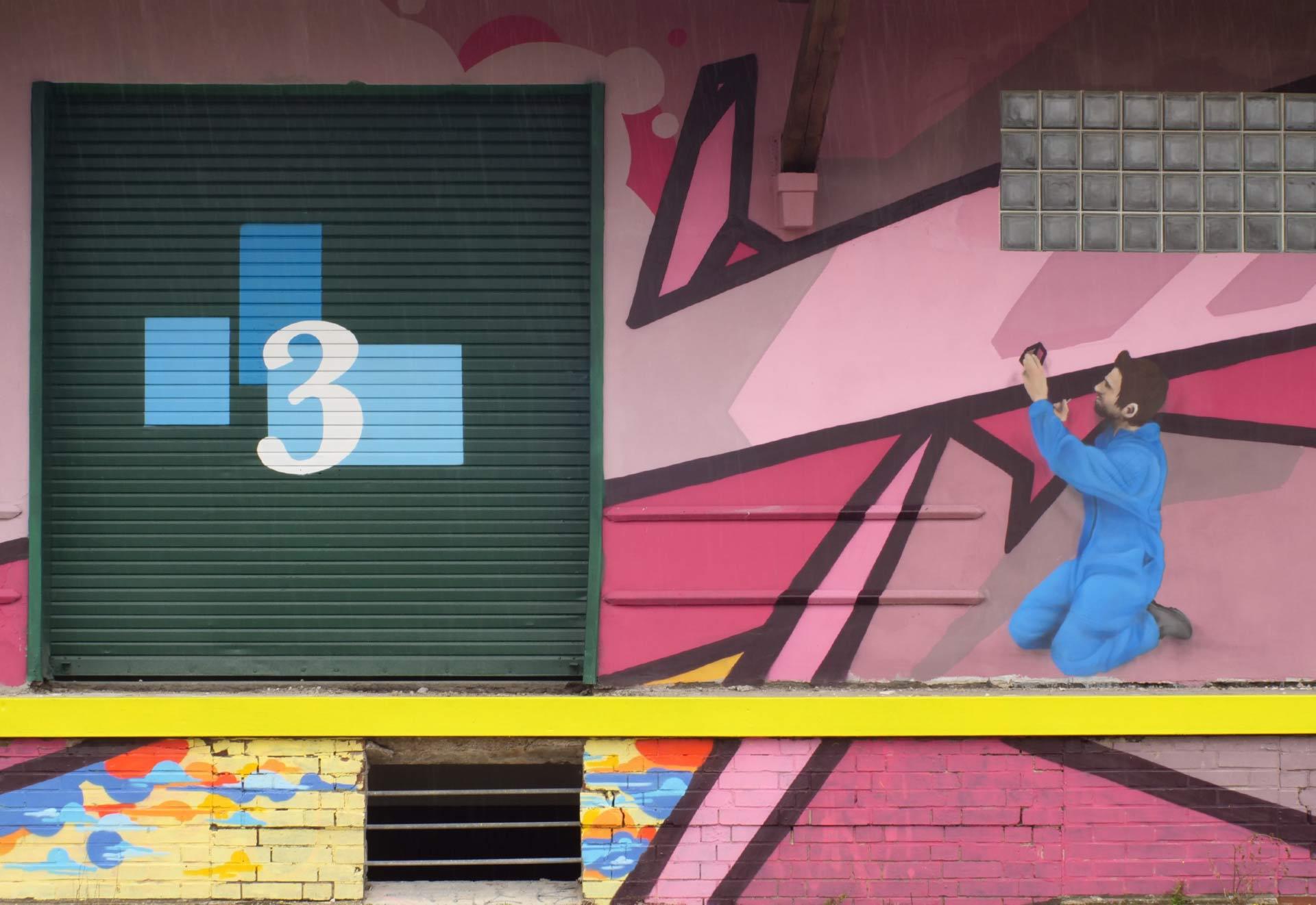Graffiti von Arbeiter