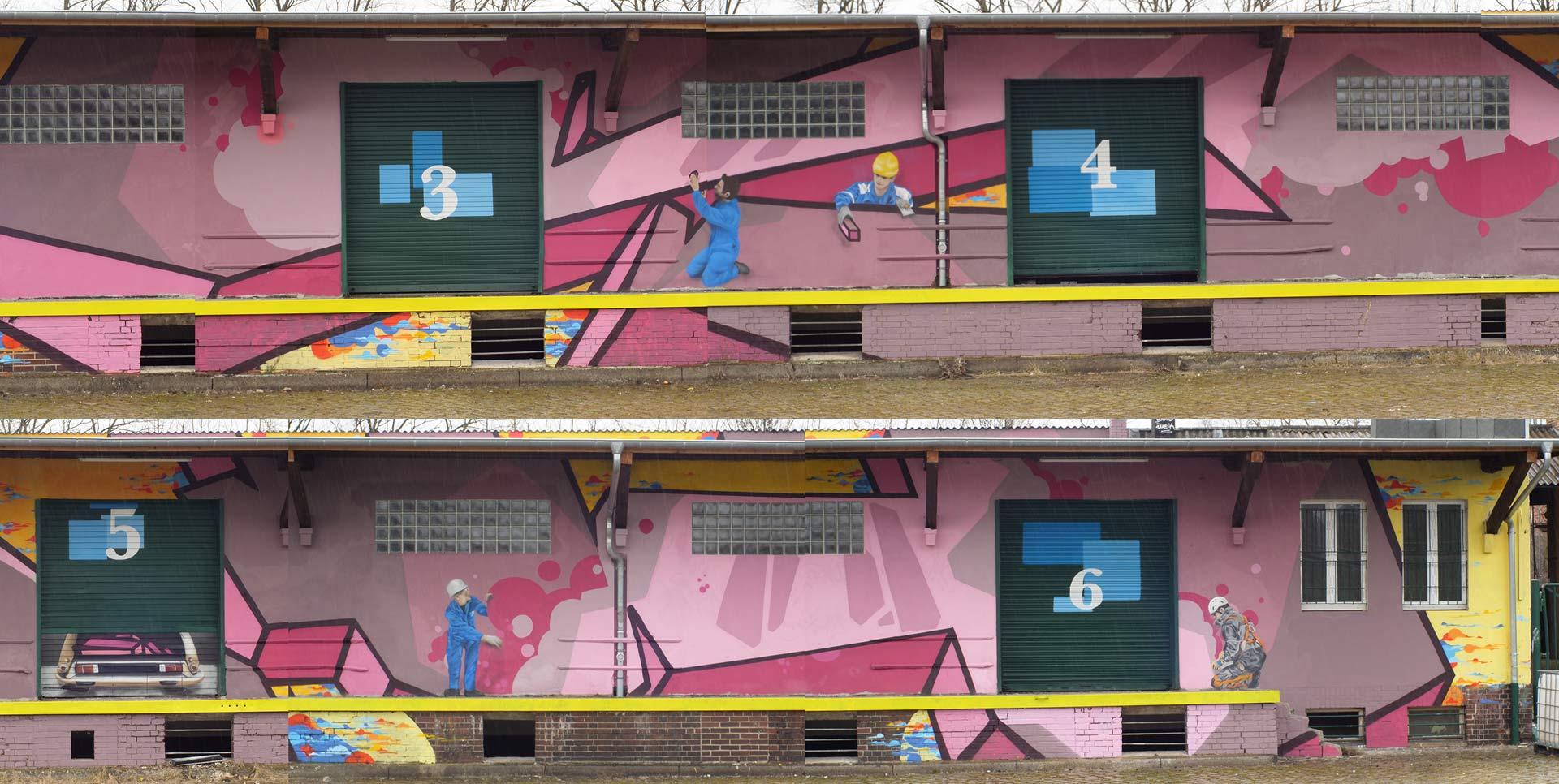 Riesiges graffiti übersicht