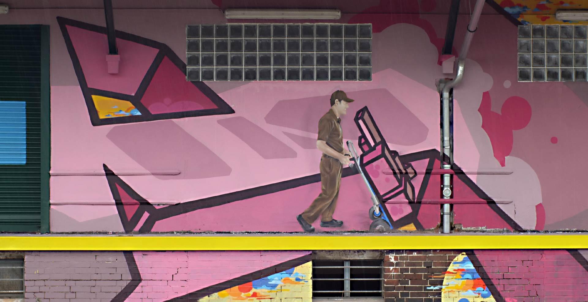 postman ups auslieferung Graffiti Spray