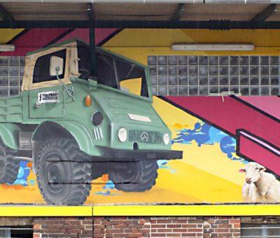 Lagerhallen Graffiti Großprojekt