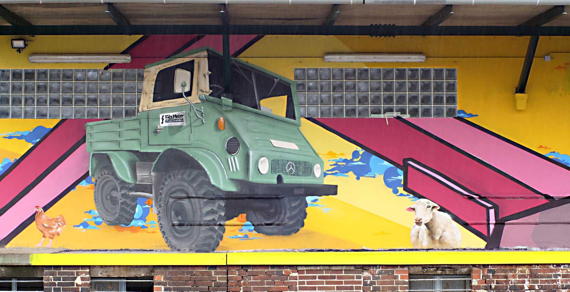 Unimog Graffiti Auto Oldtimer Jascha Müller