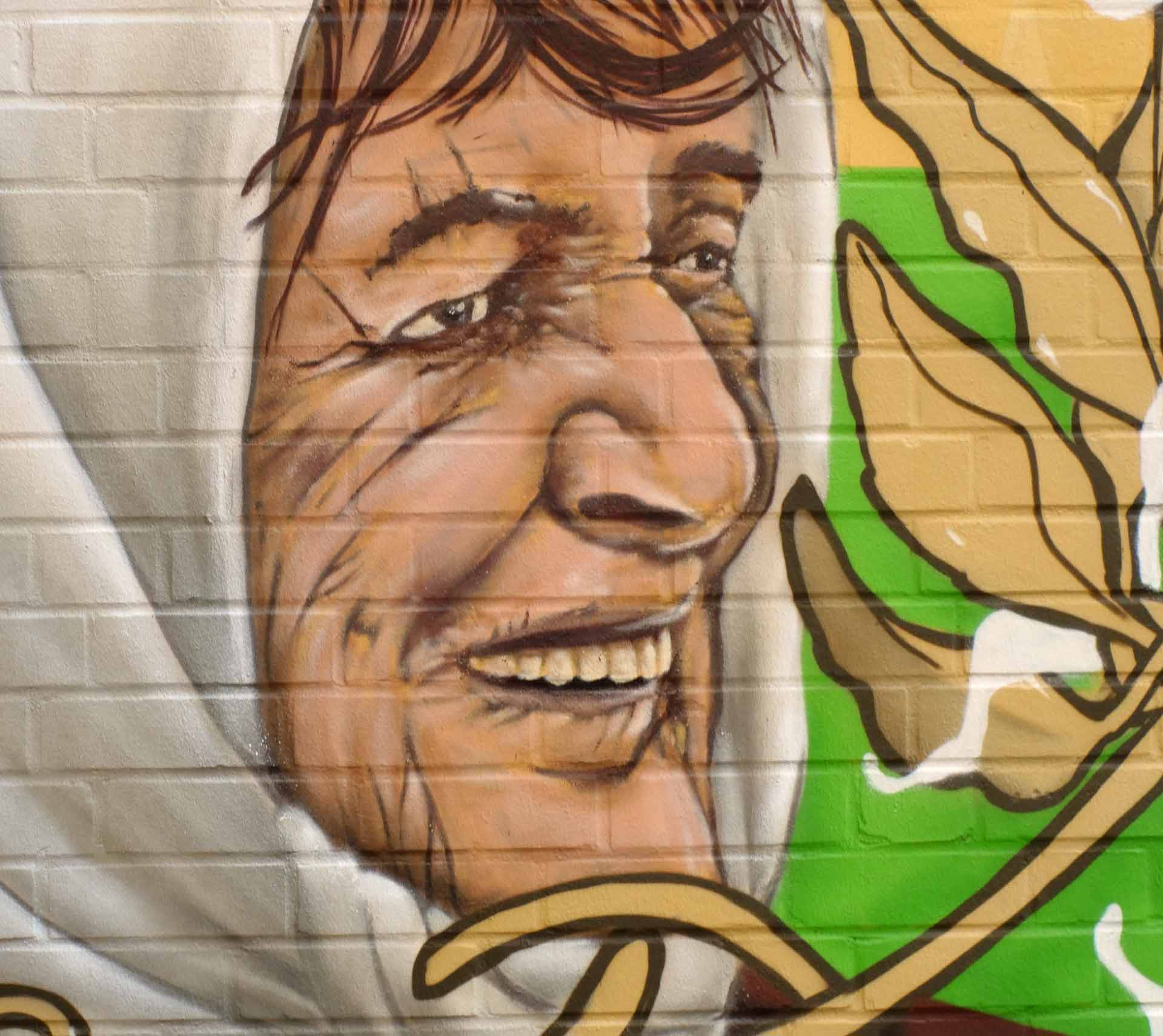 Alte Frau Portrait Graffiti Hannover