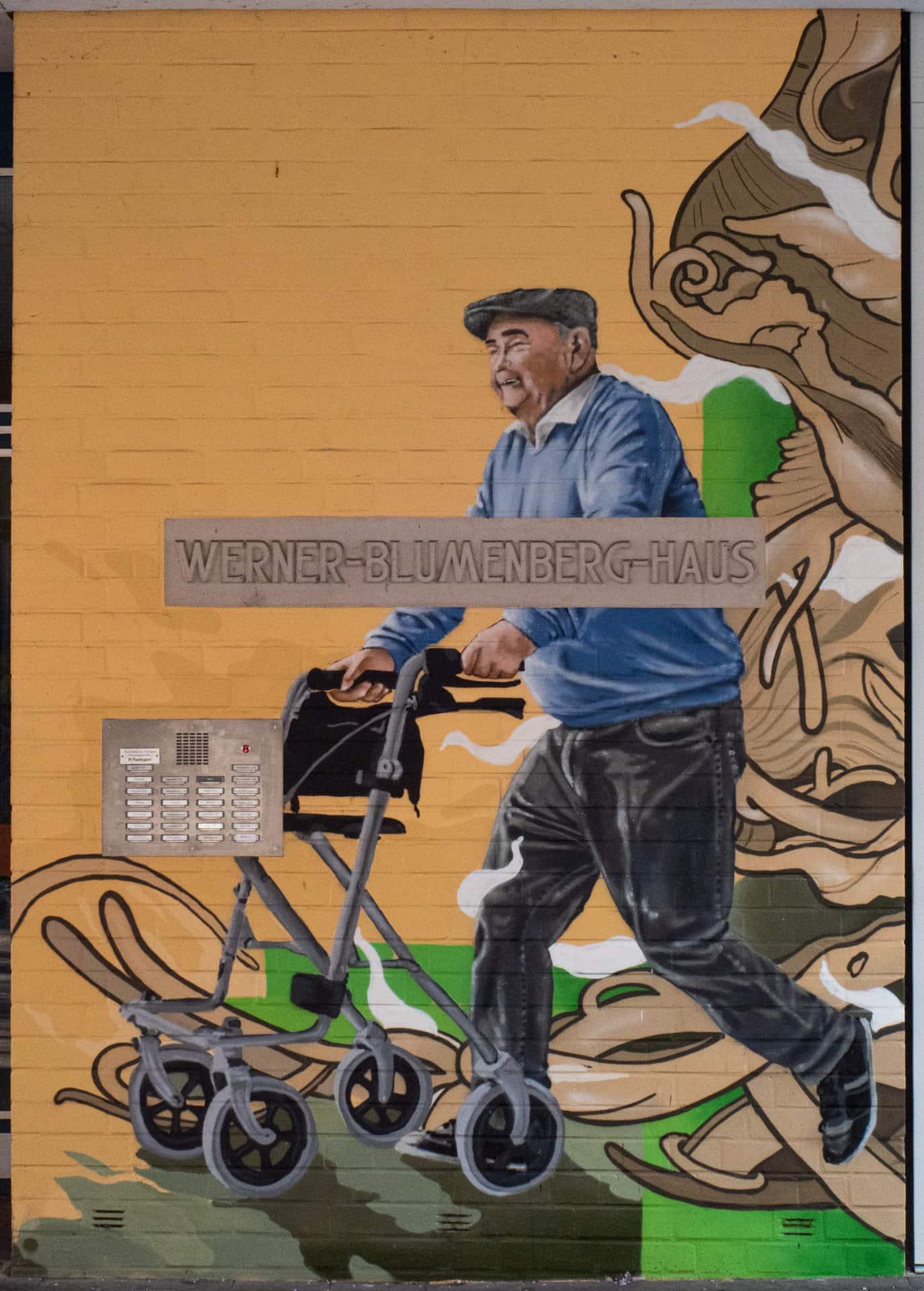Graffiti Rollator Auftrag