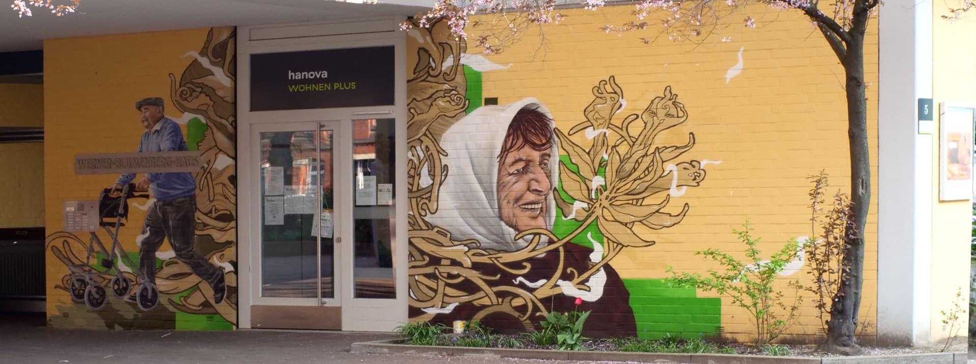 Wohngruppe Senioren Graffiti