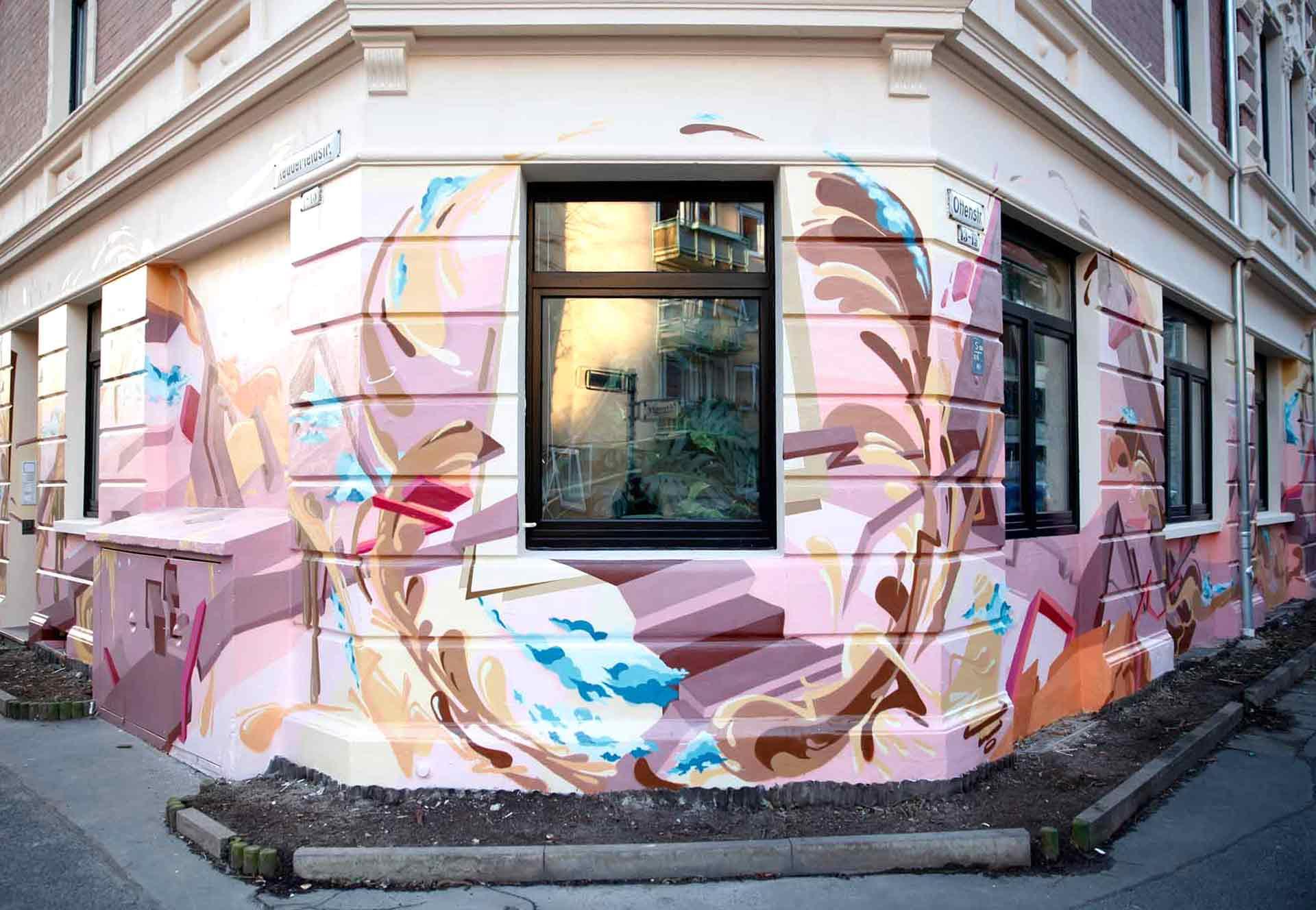3D Graffiti Design Corner Hannover