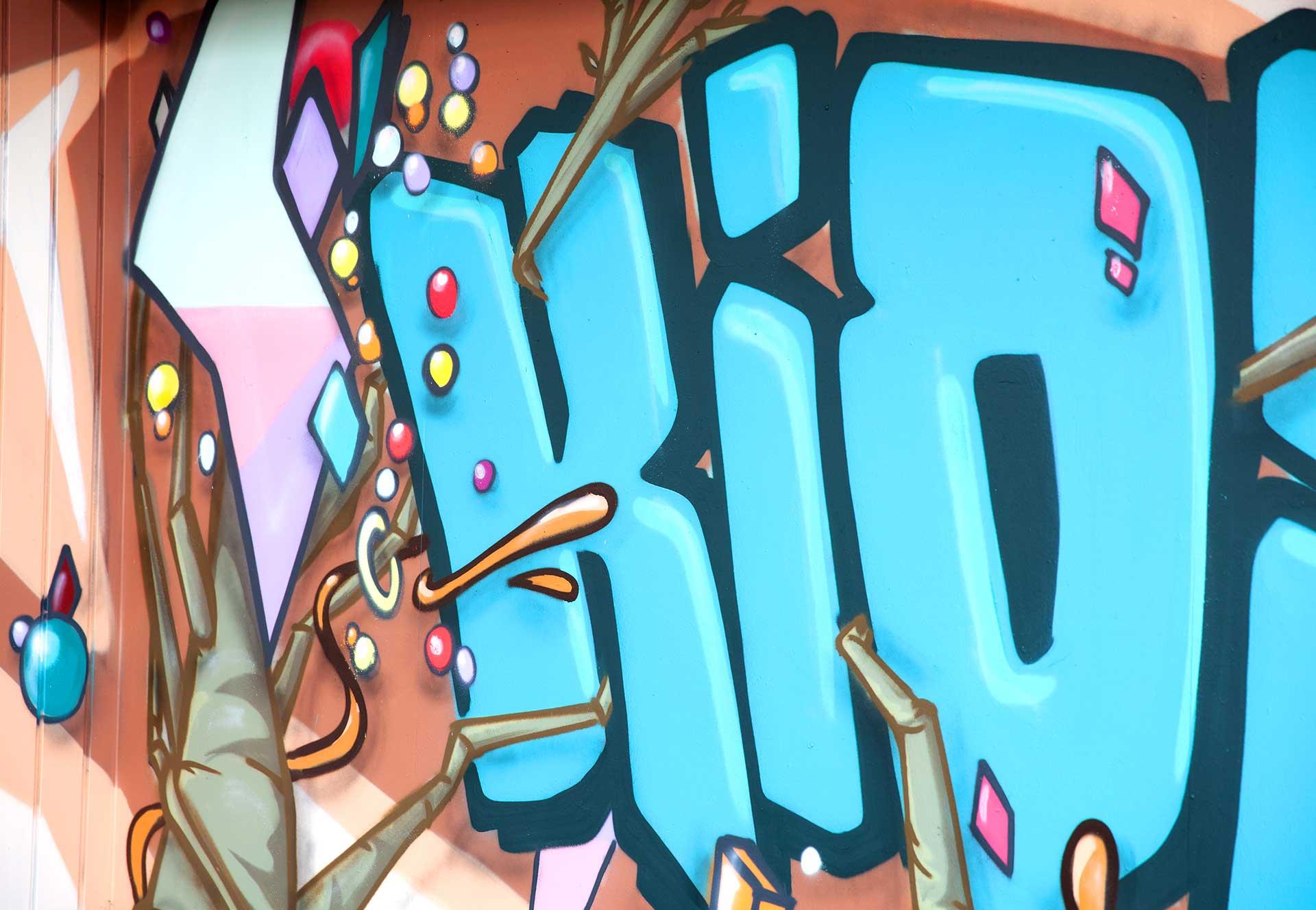 Kiosk Graffiti Kunst Vorderseite
