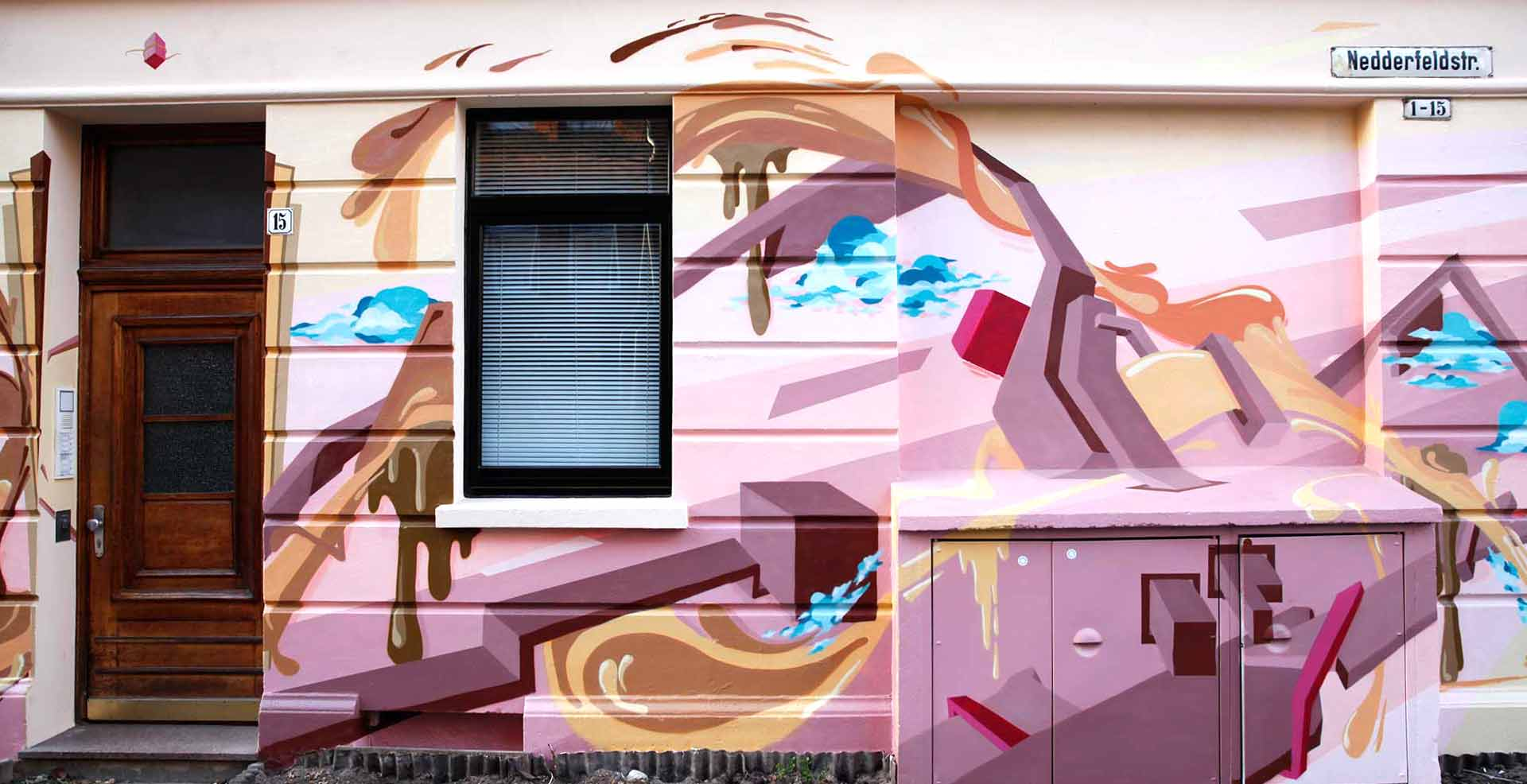 Nedderfeldstrasse Linden Nord Graffiti