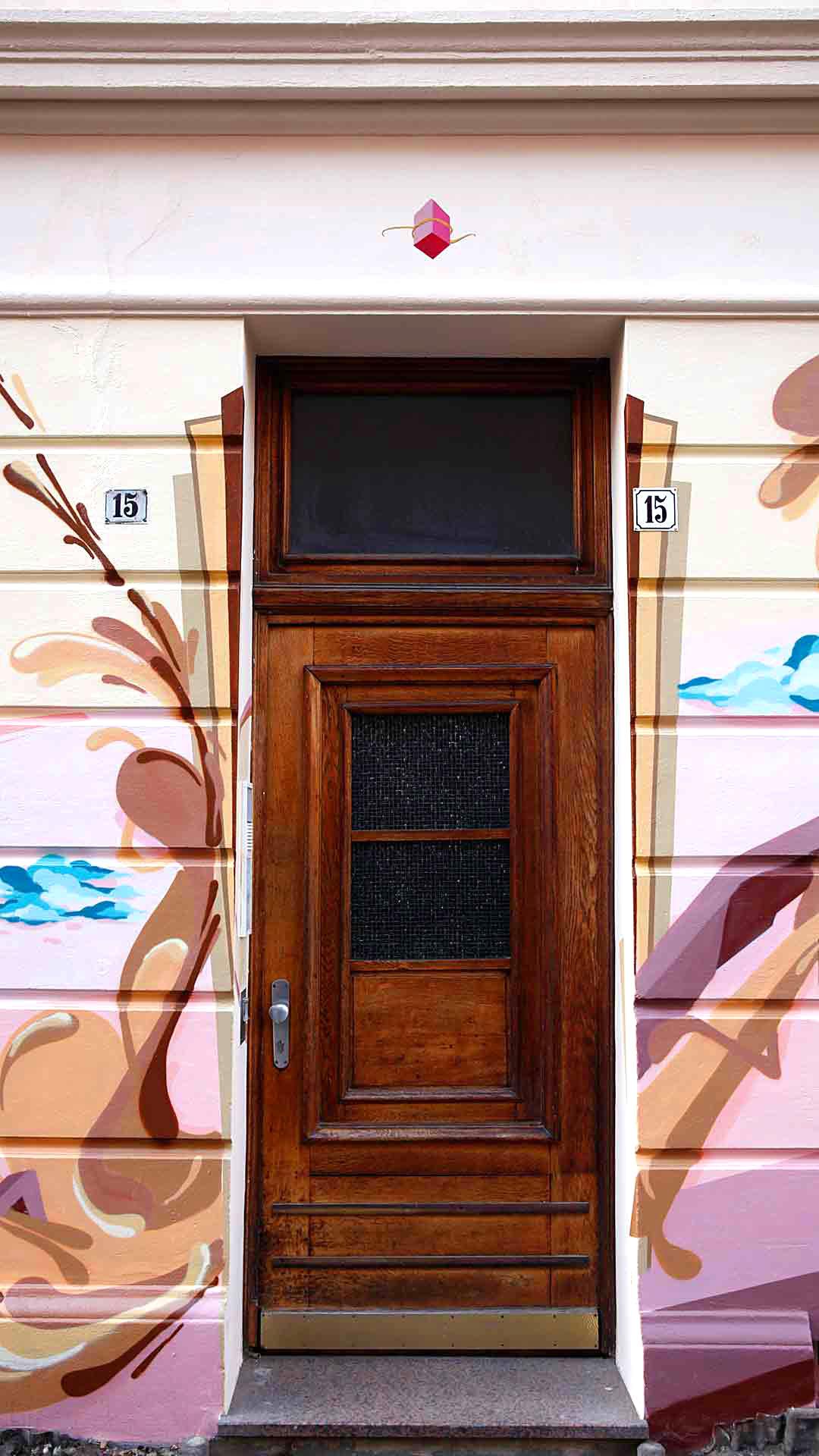 Eingangstür Graffiti Hannover