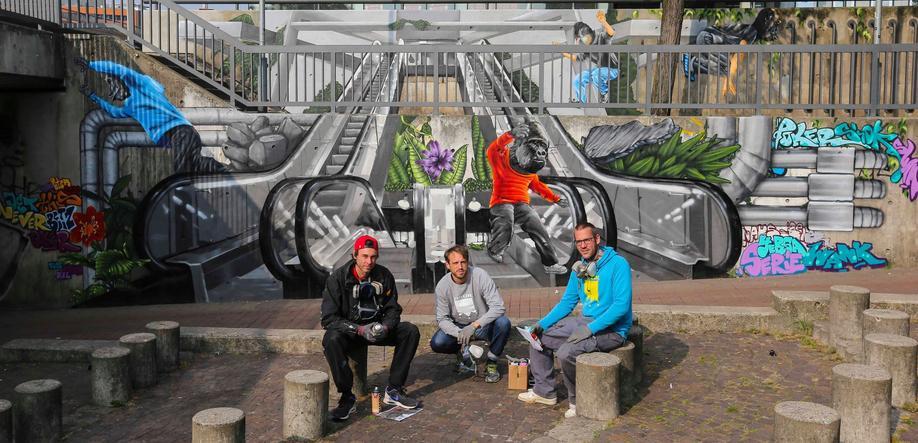Graffiti Profi Team Raschplatz 2016