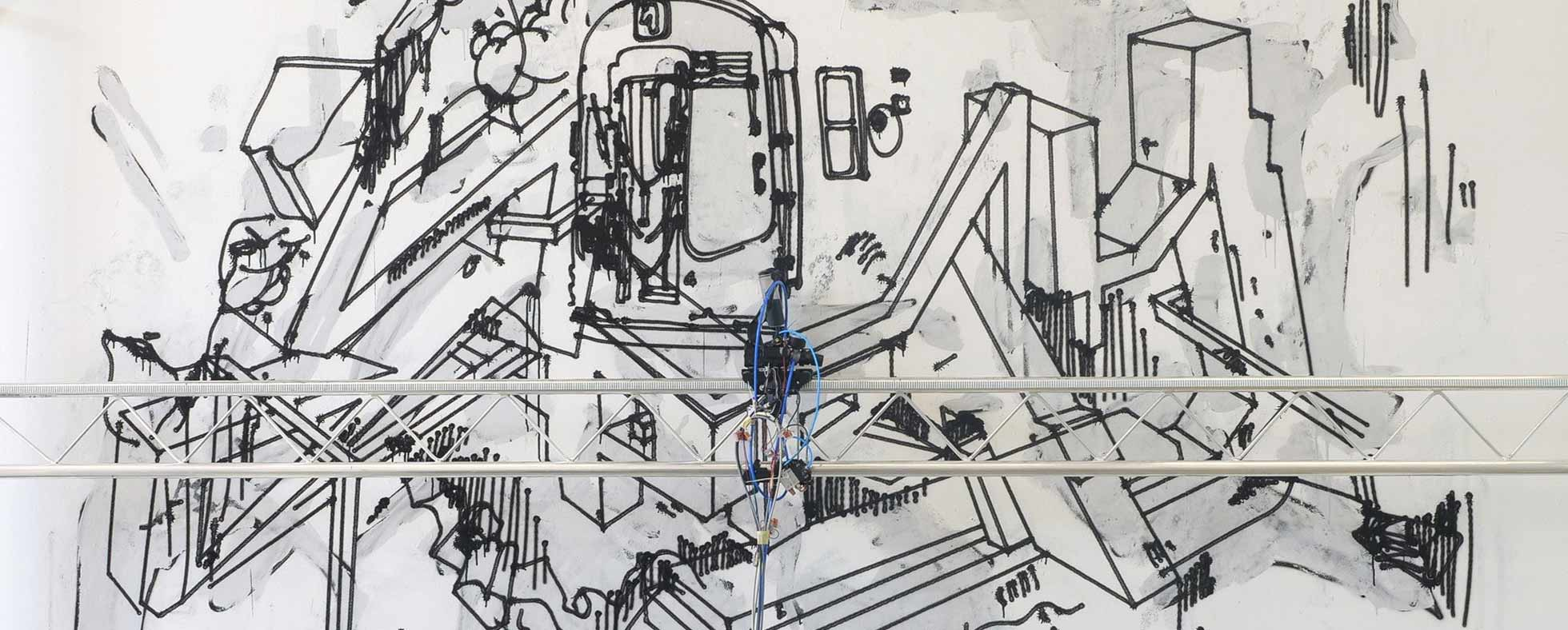 Sprengel Museum Hannover Spray Graffiti Schriftzug